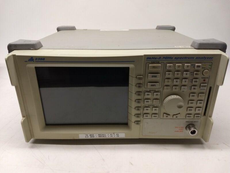 Aeroflex IFR 2398 9kHz - 2.7 GHz Spectrum Analyzer