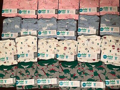 New Carter's Baby Girls Boys Sleeve 100% Cotton Sleeper Pajama Sleep-N-Play Infant Sleeper Pajamas
