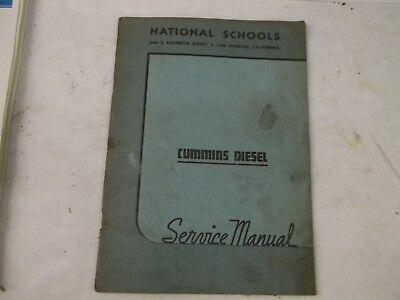 National Schools Cummins Diesel Service Manual