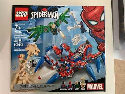 Lego 76114 Spider-Man's Spider Crawler w/ box booklet stickers No minifigures