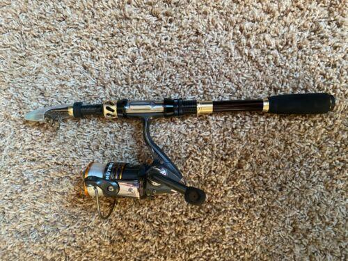 Fishing rod and reel telescopic