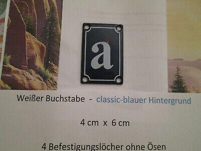 Haus-nr. (a b c d Emaille Haus Nr. Zusatz weisser Buchstabe blauer Hinterg 4cm x 6cm ANr.1)