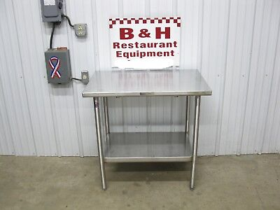 John Boos 36 X 24 Stainless Steel Heavy Duty Work Table W Under Shelf 3 X 2