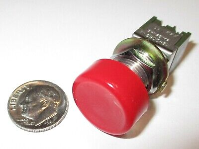 Push-on Push-off Push Button Switch Nkk Dpdt 6a-125vac On-on  Nos