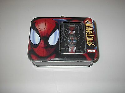 MARVEL SPIDERMAN 2003 WATCH & LUNCH BOX TIN NEW