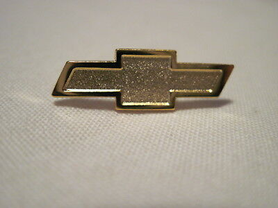 CHEVROLET GOLD COLORED BOWTIE CHEVY  HAT PIN,LAPEL PIN,INSIGNIA ,LOGO