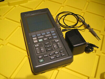 Fluke 97 2 Channel 50mhz Oscilloscope 1x Test Probe Charger Included Lk
