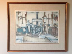 FRAMED LIMITED EDITION TRISHA ROMANCE 'KITCHEN' for SALE