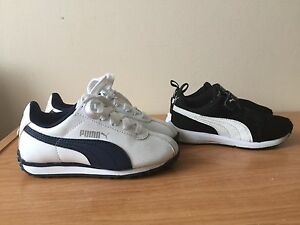 2 PAIRS PUMA SHOES, size 10T