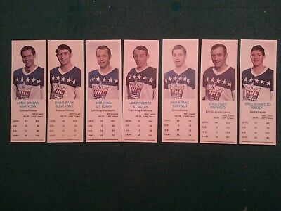 Used, 1970-71 Dad's Cookies Brad Park Dick Duff - NYR Buffalo Boston St Louis Lot of 7 for sale  Chatsworth