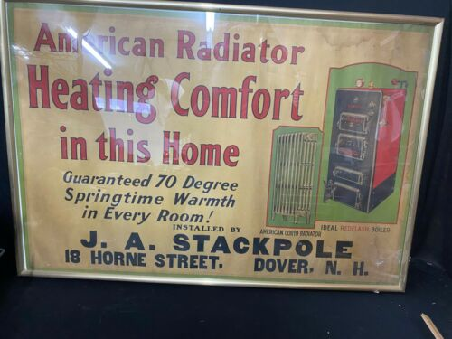 VINTAGE ADVERTISING FOR AMERICAN RADIATOR & IDEAL REDFLASH BOILERS NICE GRAPHICS
