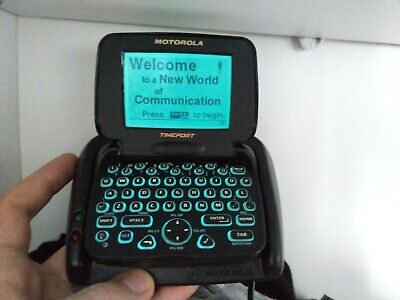 Vintage Skytel Motorola Timeport Black P935 two-way pager WORKING Pagewriter 2wp