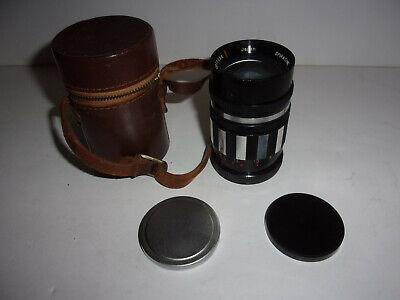 Spiratone TC 1 2.5 F 105mm Camera Lens Leather Case Japan ID 168 - $19.99