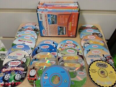 Thomas the Train - Thomas & Friends DVD Lot of 29 + 6 DVD Set - Total 35 DVDs