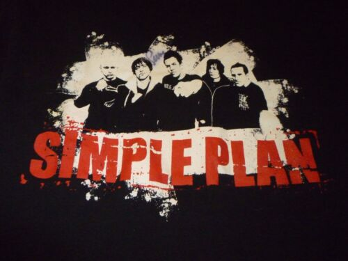 Simple Plan Signed Tour Shirt ( Used Size XL ) Good Condition!!!