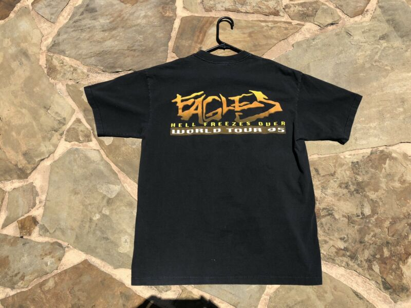 Vintage Eagles - Hell Freezes Over World Tour 95 - Black T-Shirt- XL Sof Tees