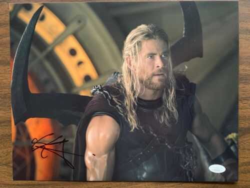 Thor Chris Hemsworth Autographed Signed 11x14 Photo JSA COA