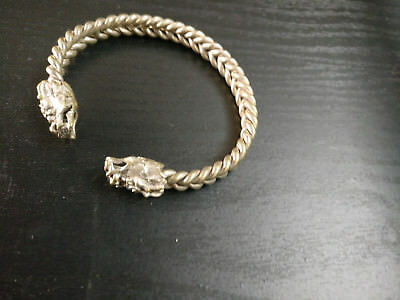 Oriental Antique Dragon Head Bracelet / Bangle