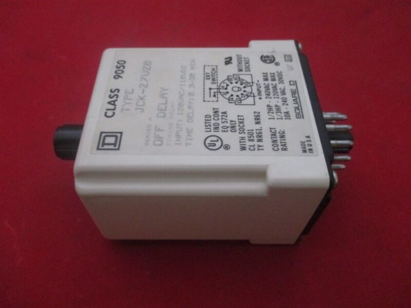 Square D Timing Relay JCK-27V20