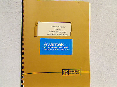 Integra Microwave Csg-1000 Current Step Generator Operation And Service Manual