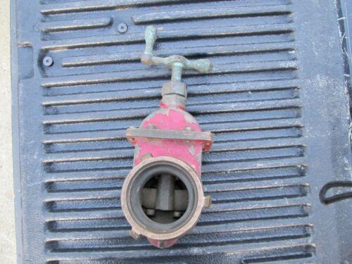 "Akron Water Valve Shutoff Red 3"" Vintage Fireman Hydrant"