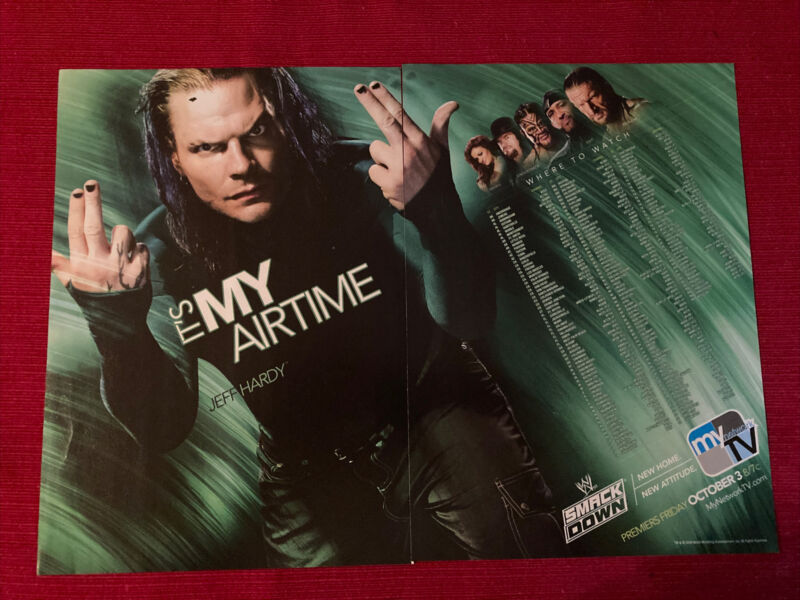 Jeff Hardy for WWE Smackdown Wrestling 2008 Ad/Poster Promo Art Ad