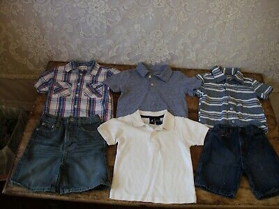 MIXED LOT OF TODDLER BOY 2T / 3T SHIRTS AND SHORTS SUMMER CLOTHES