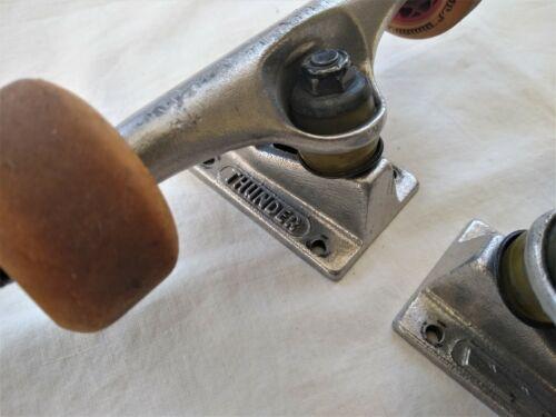 """Thunder 145 Skateboard Trucks 7.62"""" - Silver - Vintage 90's (2)"""