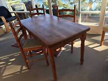 ENGLISH  SOLID PINE COTTAGE TABLE AND 4 CHAIRS HAND MADE Seaforth Manly Area Preview
