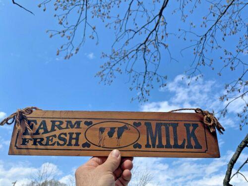 Vintage HOLSTEIN Udder Cow Farm Terrific FARM FRESH MILK Sign Plaque 7/15 ❤️sj8j