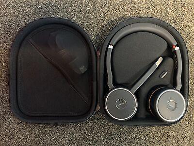 Jabra Evolve 75 MS Stereo Wireless Bluetooth Headset HSC040W w Case USB-B