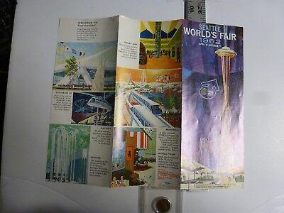 Large Color Seattle Worlds Fair Flyer. 1962. AB120 for sale  Allentown