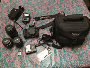 Canon EOS Rebel T4i Camera + 3 lenses + whole accessory kit