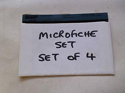 AUSTIN ALLEGRO AKM1149FQ SET OF 4 MICROFICHE (NJ391)