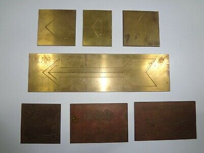 Lot Of 7 New Hermes Brass Arrow Ornamentals Templates