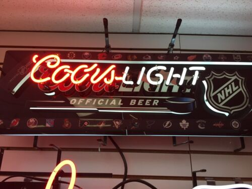 Coors Light NHL Hockey Logo Beer Large Neon Sign