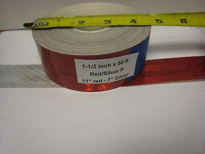 3m Brand 1-12 X50 Roll Silver Red Prismatic Reflective Tape 7-11 Dot-c2