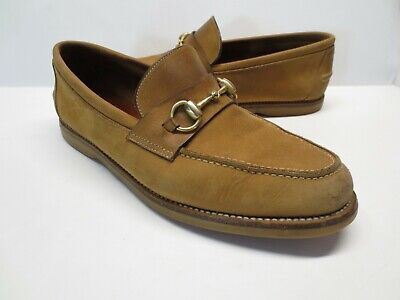Men's Vintage Gucci 142 2025 Brown Suede Leather Horsebit Loafers size 41.5