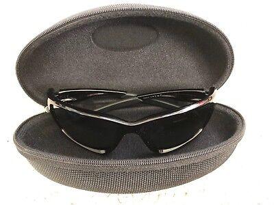 OAKLEY CANTEEN Polarized Sunglasses Polished Black Frames Black Lenses W/ Case for sale  Freeland