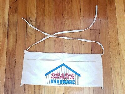 Vintage Sears Hardware Advertising Cloth Nail Apron 2 Pouch Craftsman Tools