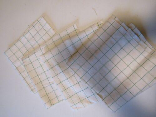 4 VINTAGE COTTON DISH TOWELS..GREEN STRIPE
