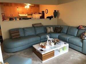 Beautiful sectional with end tables ,chair and ottoman