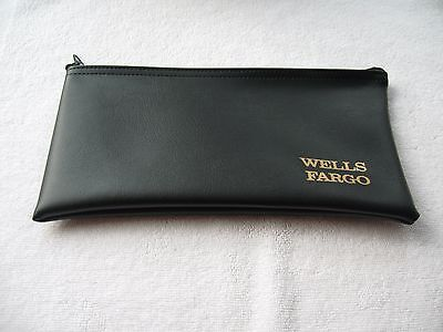 Wells Fargo Bank Money Zipper Deposit Logo  Bag