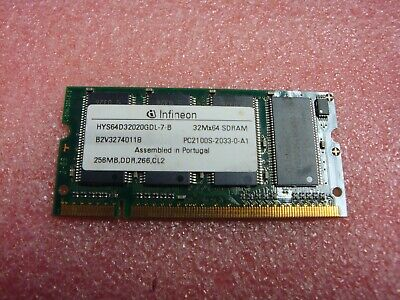 Ddr Pc 2100 Laptop Memory - Infineon HYS64D32020GDL-7-B DDR 133mhz CL2 PC2100 Laptop SODIMM RAM Memory