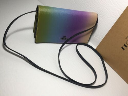 NWT Coach 91196 Hayden Foldover Crossbody Clutch with Ombre