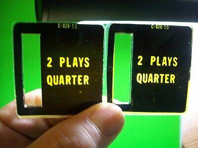 2 Plays Quarter Pinball Machine C-826-50 Bally Stern Game Plastic Coin Plates #5