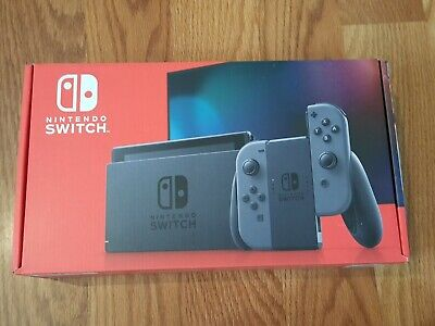 Nintendo Switch Console with Gray Joy-Cons HADSKAAAA 32GB V2
