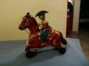 friction toy cowboy from japan