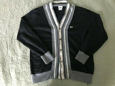 Lacoste Vintage Cardigan Sweater Sz. L