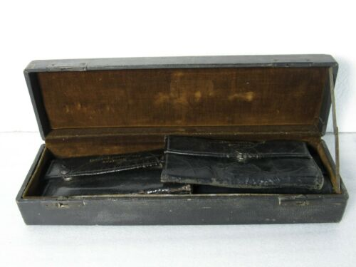 Antique Indiana University Zoology & Anatomy Kits in Wooden Case [RMS]